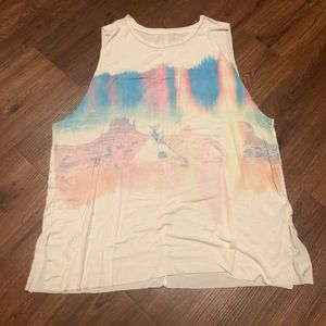 Desert Washed Out Muscle Tee